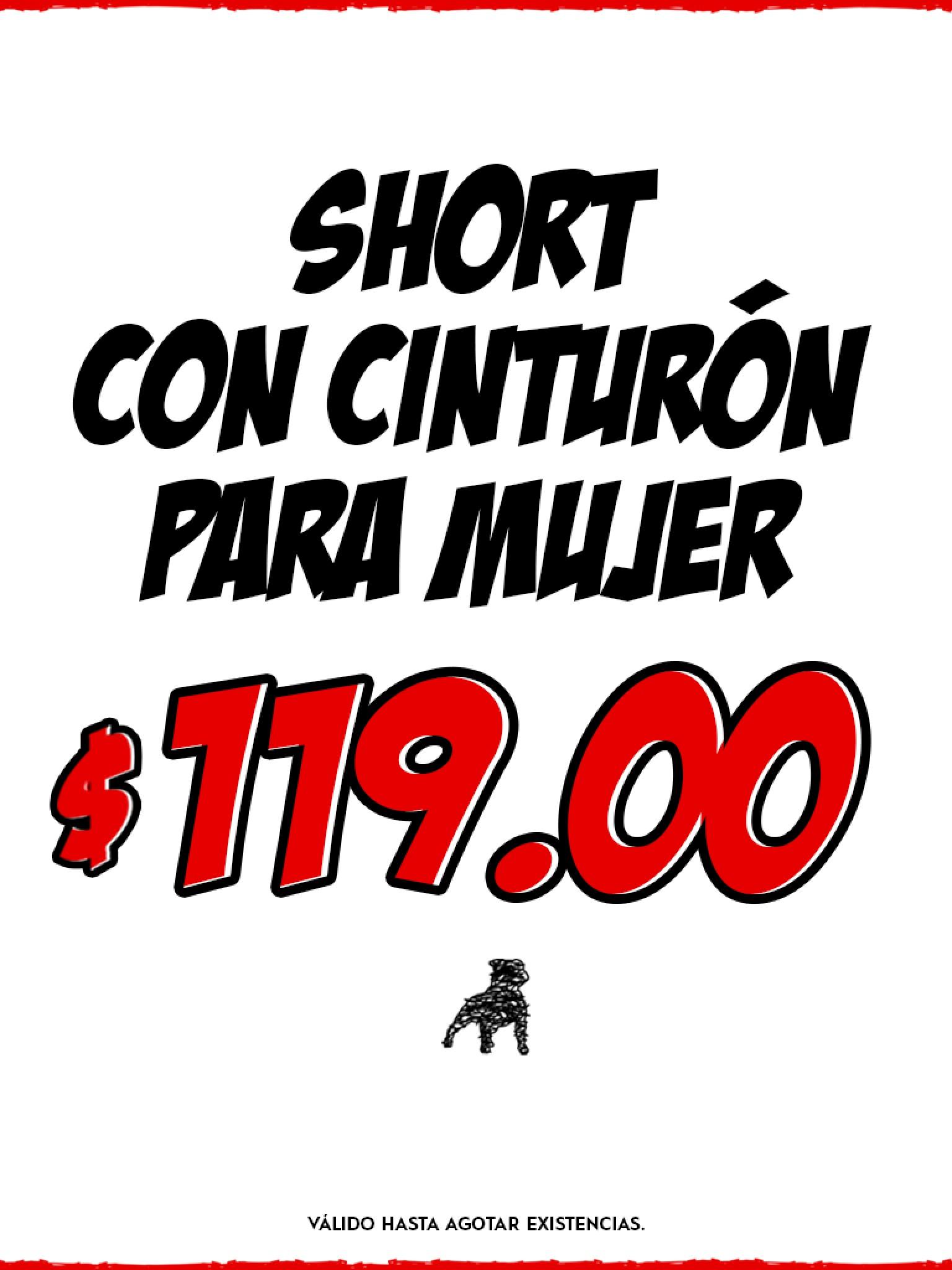 shorts para mujer a sólo $119