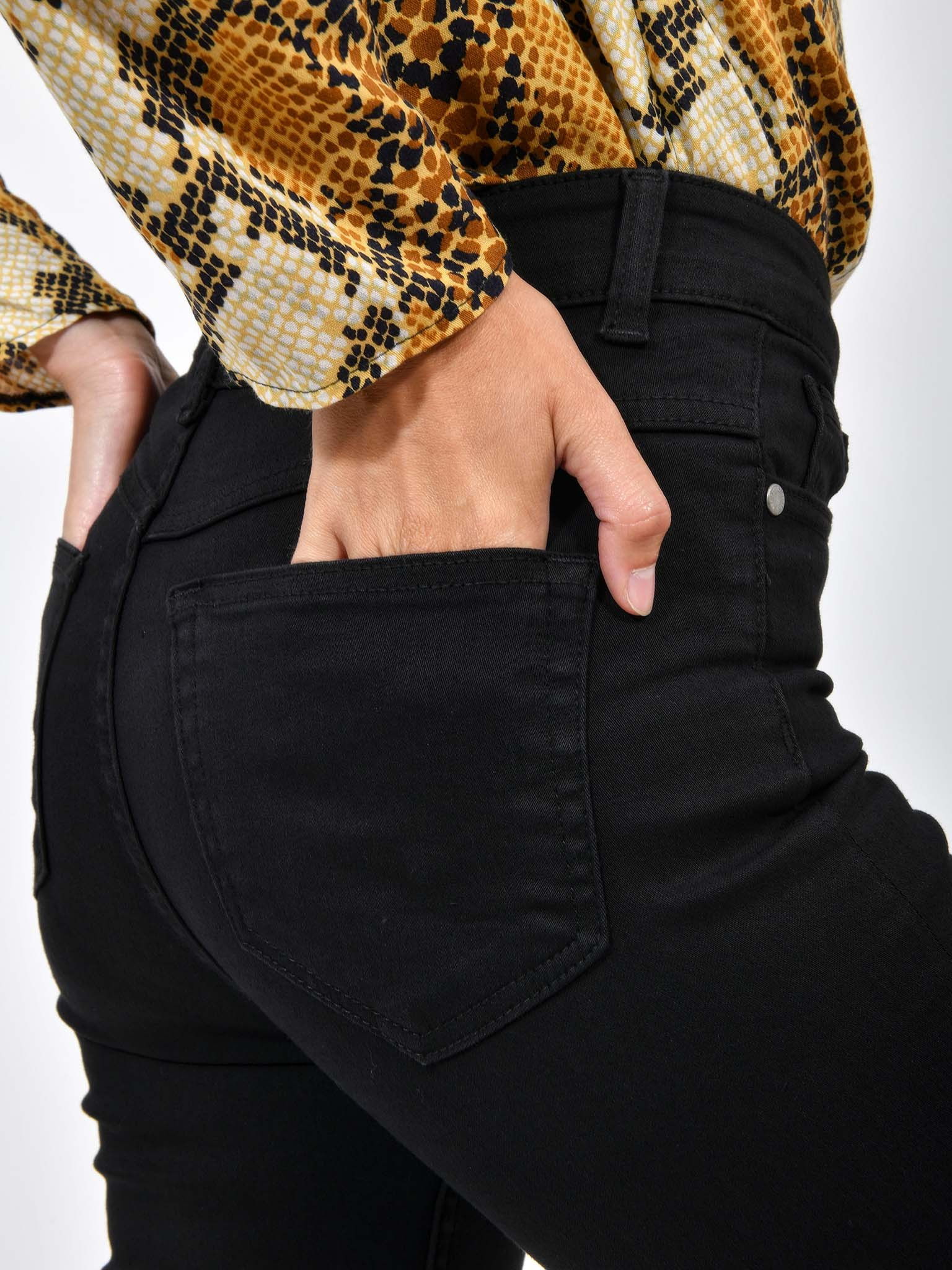 Señora vaqueros pitillo Skinny slim fit Jeans Hose tubos pantalones cadera Stretch azul /< fa />