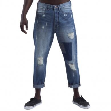 Pantalón Denim Skinny con Parches
