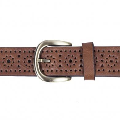 Cinturón Troquelado Cuadrado y Flores