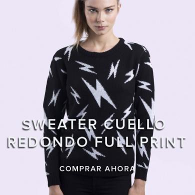Sweater Cuello Redondo Full Print