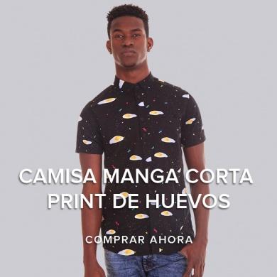 CAMISA MANGA CORTA PRINT DE HUEVOS