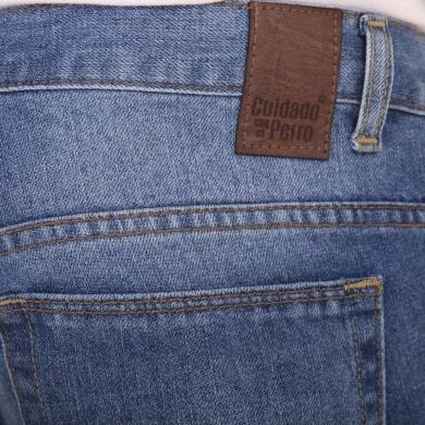 Pantalón Denim Básico Slim Claro