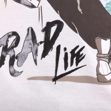 Playera de manga corta con Estampado Rad Life
