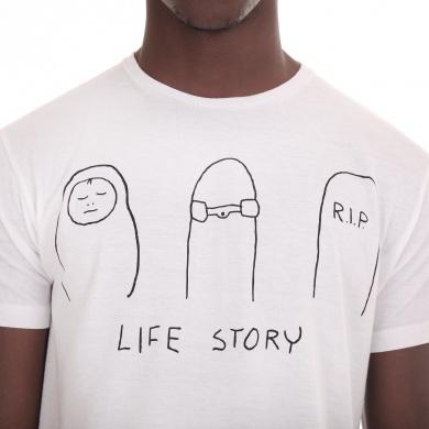 Playera de Manga Corta con Estampado Life Story