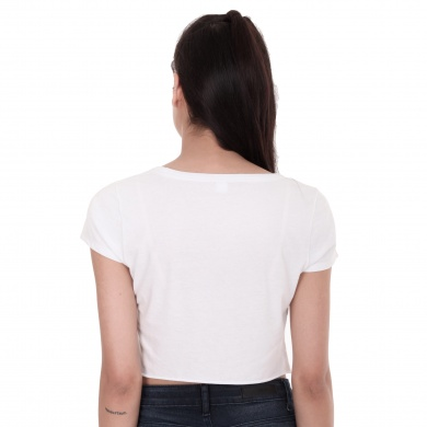 Playera Crop de Cuello Redondo, Power