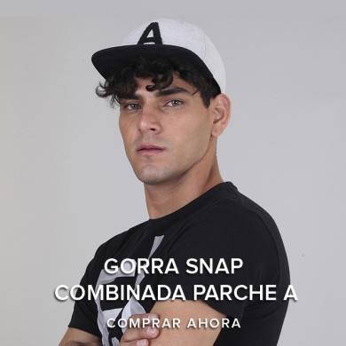 Gorra Snap Combinada Parche A