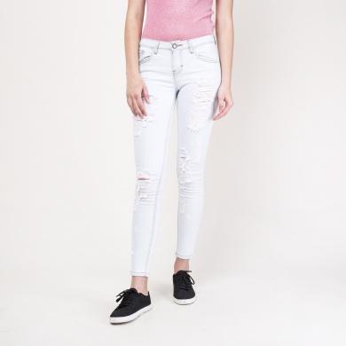 Jeans ultra skinny destrucciones rodillas