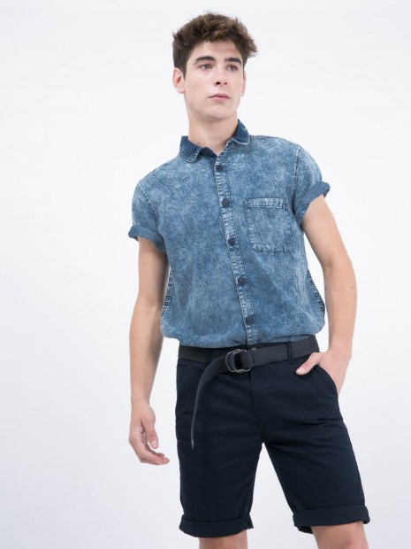 Camisa de Mezclilla Manga Corta