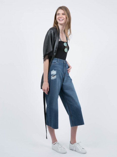 Jeans Pierna Ancha Cropped | CCP