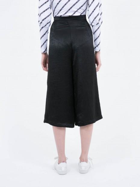 Pantalón Cropped Pierna Ancha