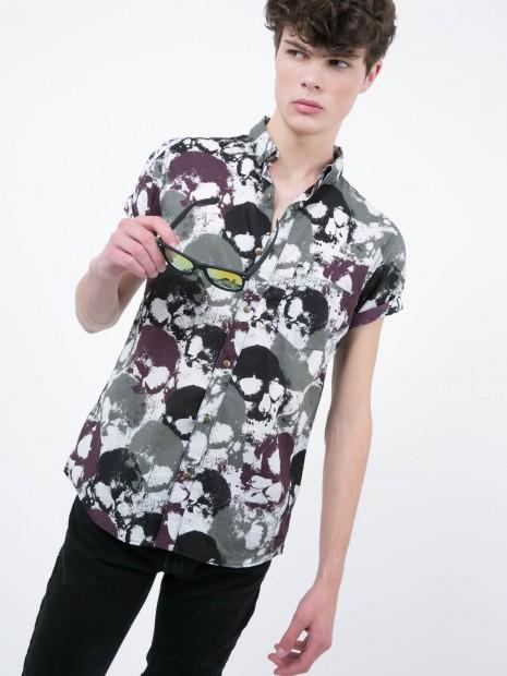 Camisa Manga Corta Cráneo | CCP