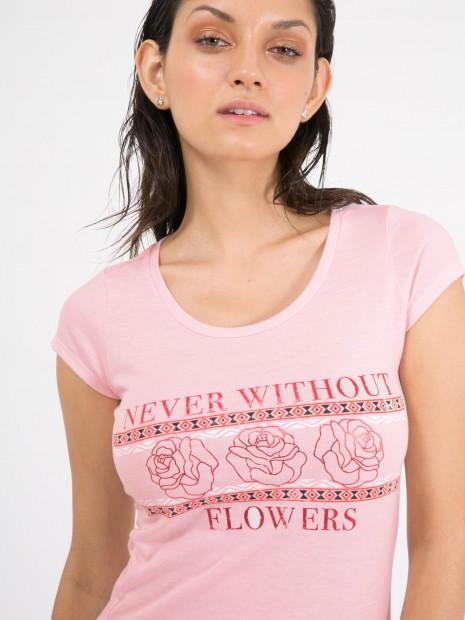 Playera Estampado Flores