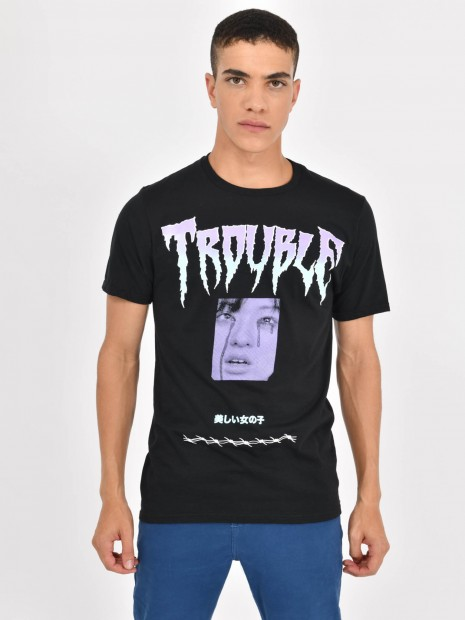 Playera 'Trouble'