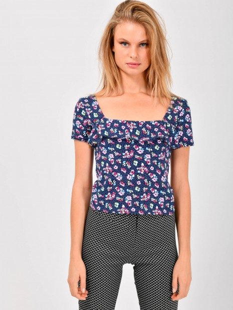 Blusa Grafico Flores