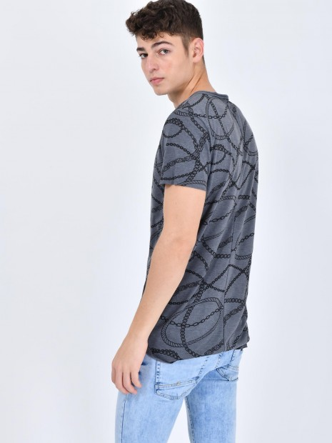 Playera Estampado Cadenas