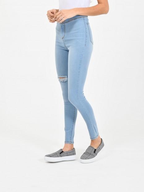Jeans Tiro Alto Destrucciones