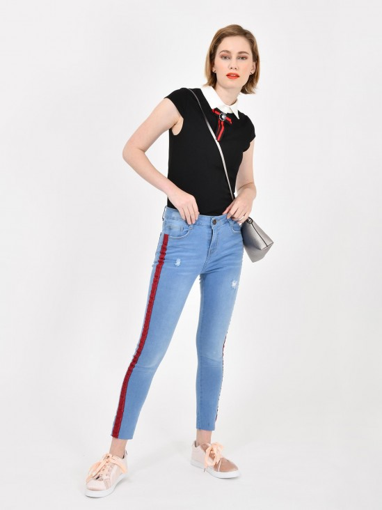 Jeans Franjas Contraste | CCP