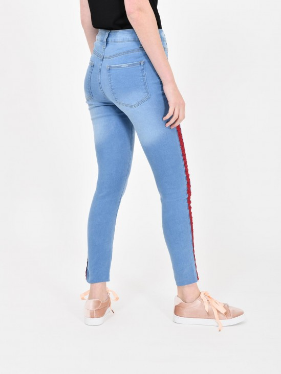 Jeans Franjas Contraste