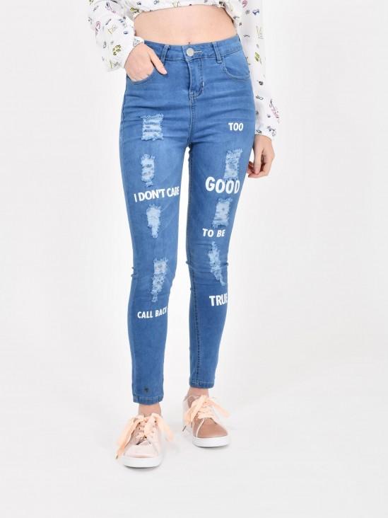 Jeans Skinny Estampado