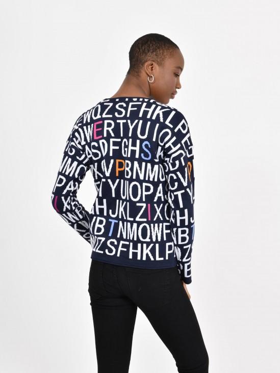 Suéter Tejido Letras
