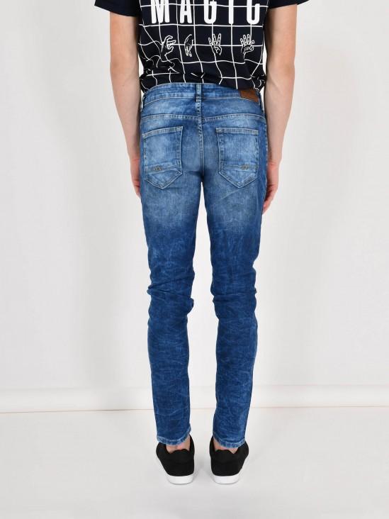 Jeans Skinny Efecto Deslavado
