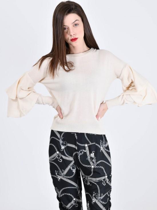 Suéter Volantes