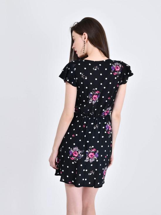 Vestido Lunares y Flores