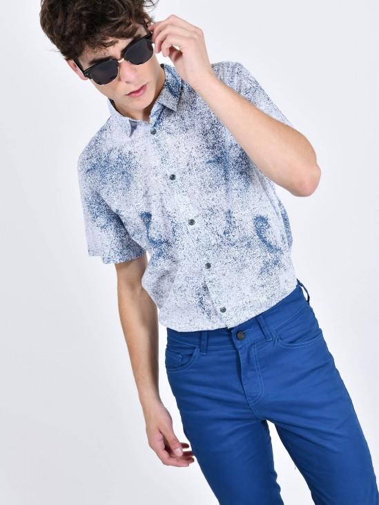 Camisa Efecto Salpicado