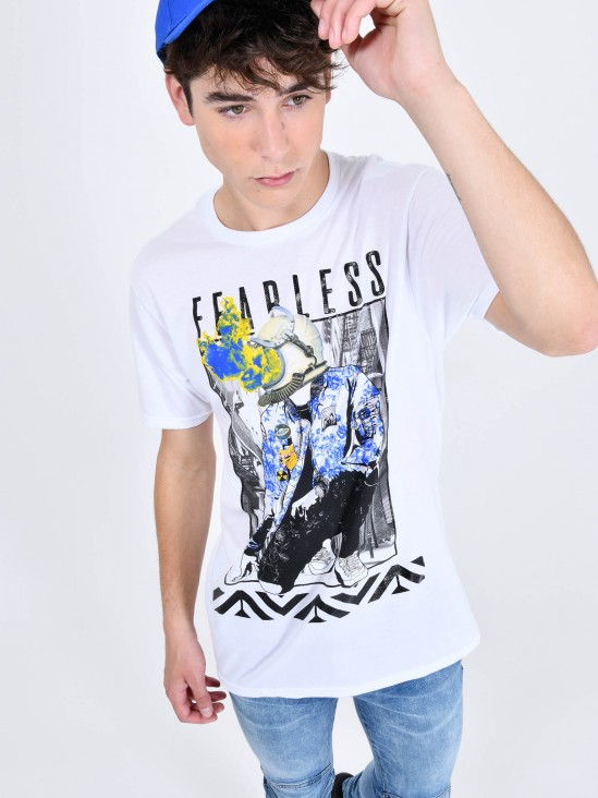 Playera 'Fearless'