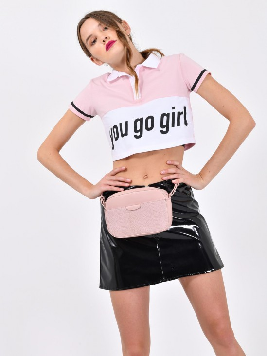 Playera Cropped 'You Go Girl'