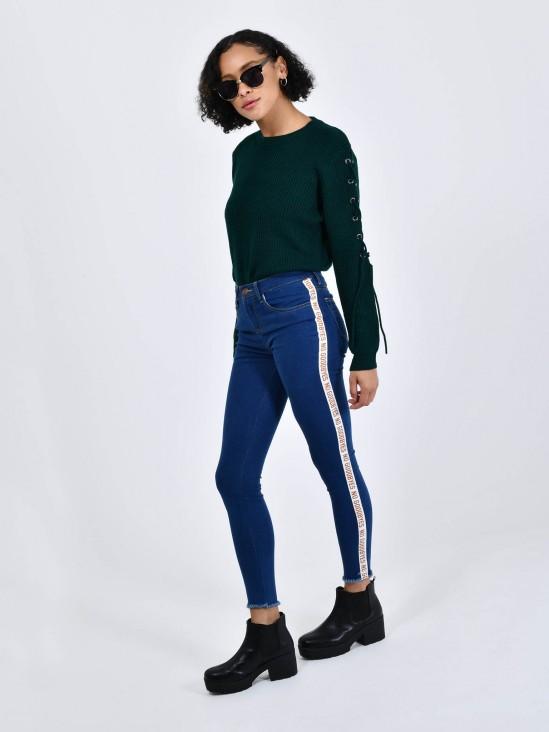 Jeans Tira Contraste