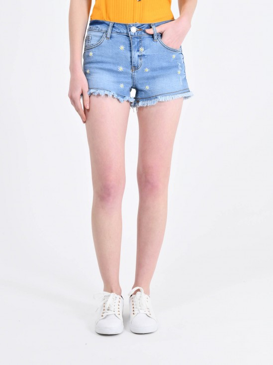 Shorts Bordado Flores