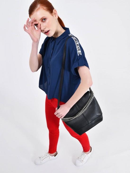 Blusa Cropped Franja | CCP