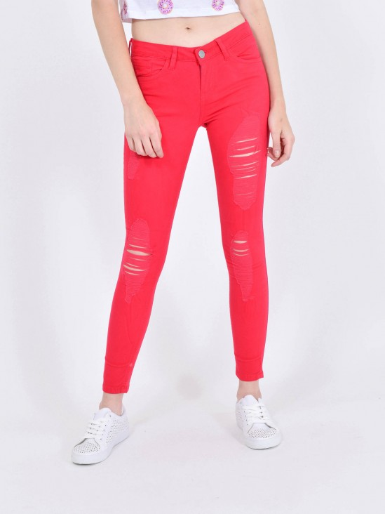 Pantalón Skinny Destrucciones