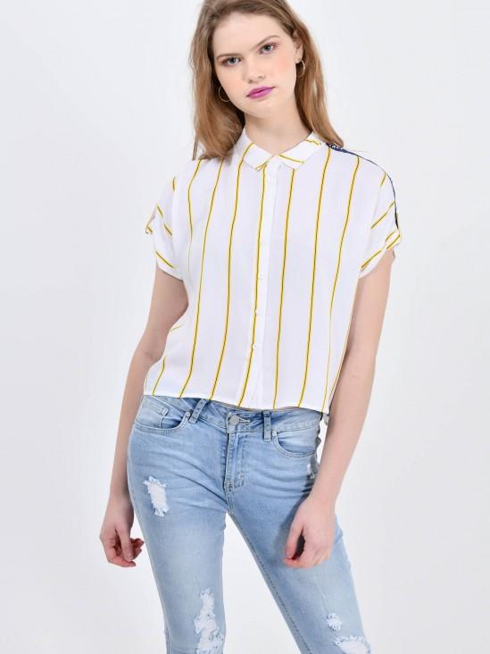 Camisa Cropped Rayas | CCP