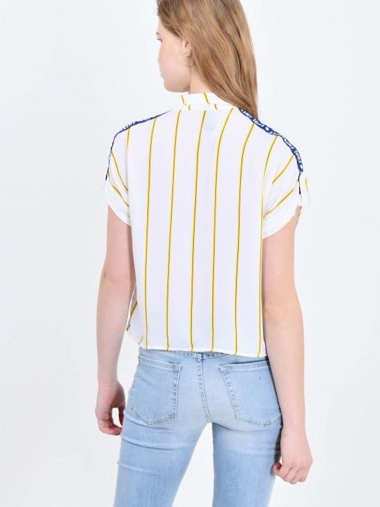 Camisa Cropped Rayas
