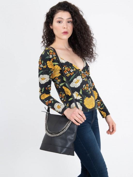 Blusa Cruzada Flores