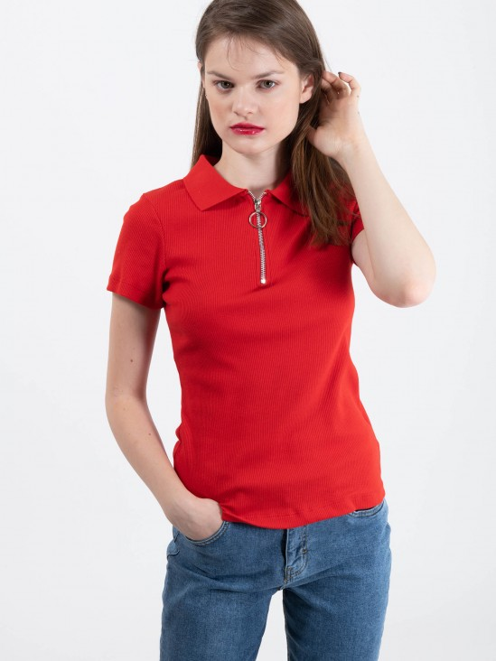 Playera Polo Canalé
