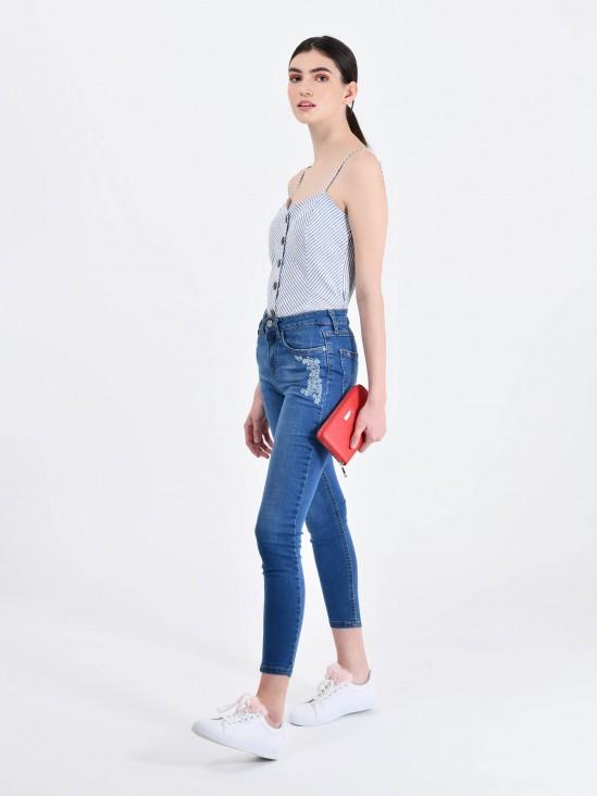 Jeans Skinny Bordado | CCP