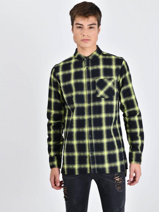 818ed2ae6 Camisa Cuadros ...
