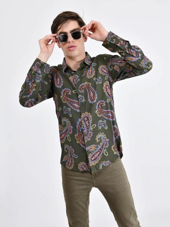 Camisa Estampado Paisley   CCP