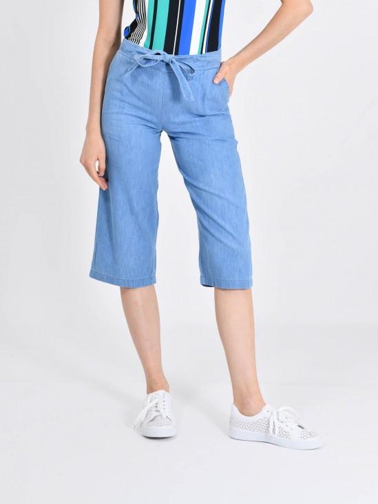 f91a63315f Jeans Capri Pierna Ancha Jeans Capri Pierna Ancha