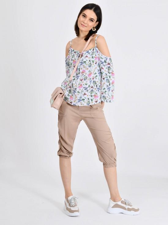 Blusa Flores Hombros Descubiertos | CCP