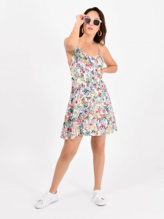 1841c0ff6 Vestido Flores ...