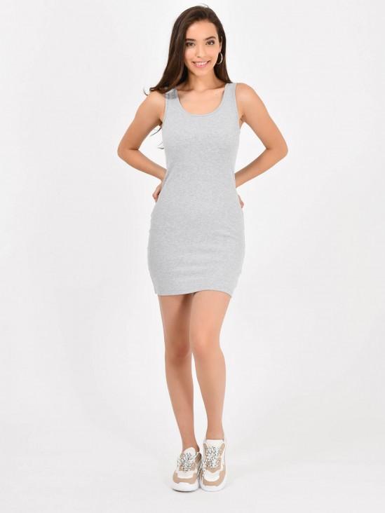 Vestido Canalé Liso
