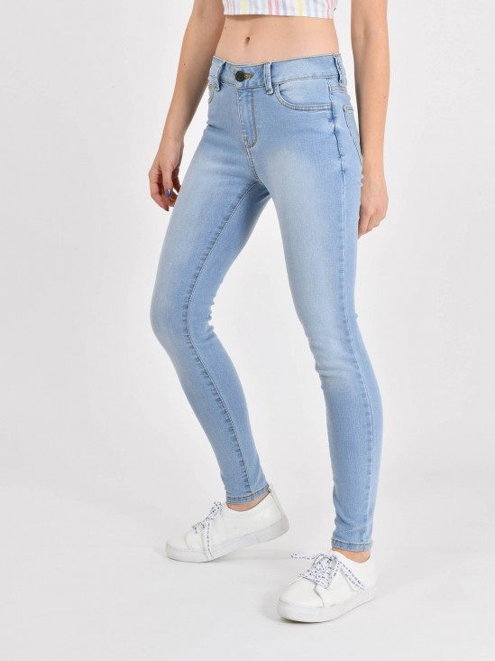 9bfa4364ea Jeans Skinny Tiro Alto Jeans Skinny Tiro Alto