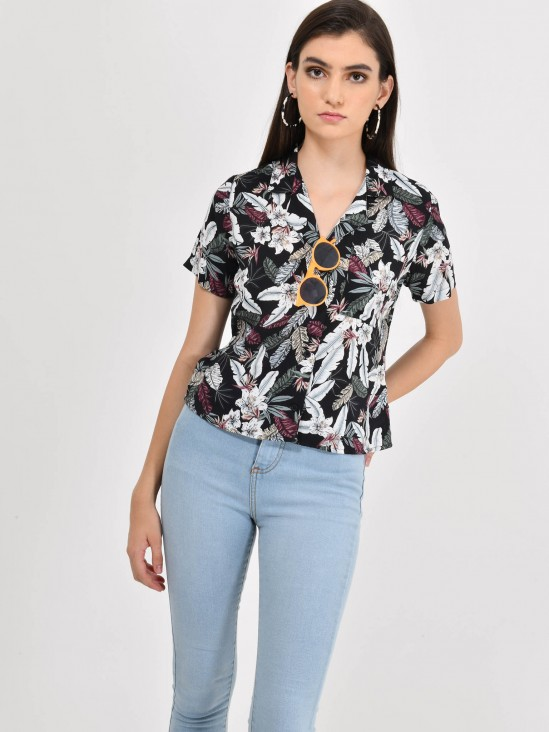 Blusa Cropped Floral | CCP
