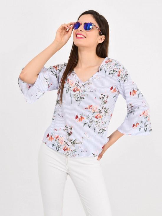 Blusa Flores y Rayas | CCP