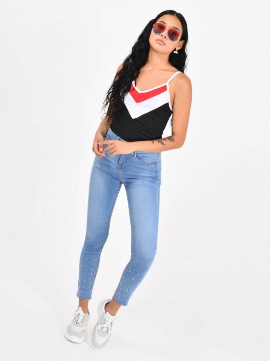 2d30ce440 Jeans Skinny Apliques ...